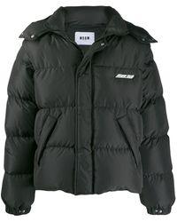 MSGM パデッドジャケット - ブラック