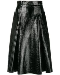 Three Floor - Vernished Flared Skirt - Lyst