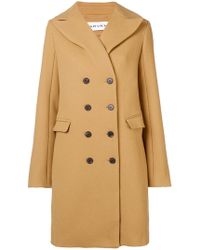 Carven - Double Breasted Coat - Lyst