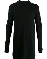 Rick Owens Drkshdw Layered Long-line Knit Top - Black