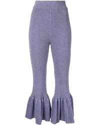 Alice McCALL Love Letters Cropped Trousers - Purple