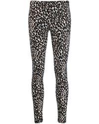 LaDoubleJ Leopard-print leggings - Black