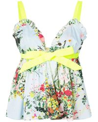 BROGNANO - Floral Flared Top - Lyst