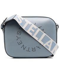 Stella McCartney Сумка Через Плечо Stella Logo С Перфорацией - Синий