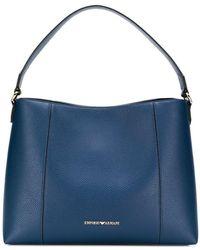 Emporio Armani Logo Hobo Bag - Blue
