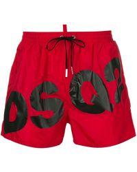 DSquared² Costume da bagno DSQ2 con stampa - Rosso