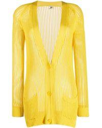 Hermès Cardigan en maille ajourée pre-owned - Jaune