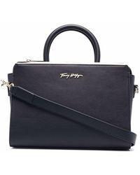Tommy Hilfiger Modern Faux Leather Handbag - Blue