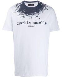 Frankie Morello ペイント ロゴ Tシャツ - ホワイト