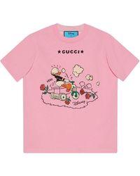 Gucci Camiseta con motivo de El Pato Donald de x Disney - Rosa