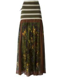 Jean Paul Gaultier - Printed Ruffle Skirt - Lyst