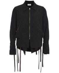 BED j.w. FORD Zip Jacket With Arm Ties - Black