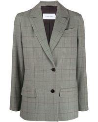 Calvin Klein チェック シングルジャケット - グレー