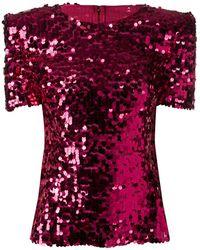 Dolce & Gabbana スパンコール トップ - ピンク
