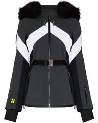 Sweaty Betty Panelled Hooded Ski Jacket - Grey