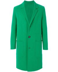 AMI Двубортное Пальто - Зеленый