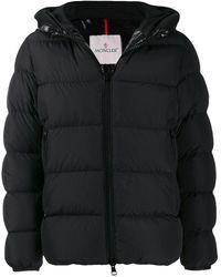 Moncler Dubois Logo-print Padded Puffer Coat - Black