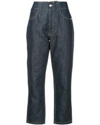 Sofie D'Hoore Raw Straight Leg Jeans - Blue