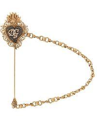 Dolce & Gabbana - Logo Brooch - Lyst