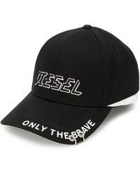 DIESEL Baseballkappe mit Logo - Schwarz