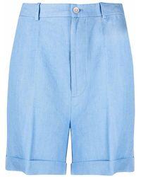 Polo Ralph Lauren リネン ストレートショートパンツ - ブルー