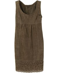 Louis Vuitton Платье Без Рукавов С Английской Вышивкой - Коричневый
