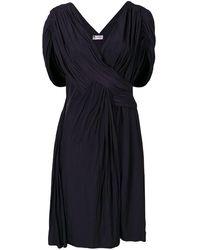 Lanvin Robe à design drapé - Bleu