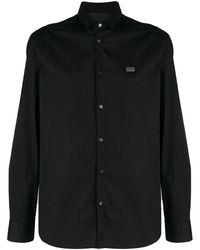 Philipp Plein Рубашка С Нашивкой - Черный