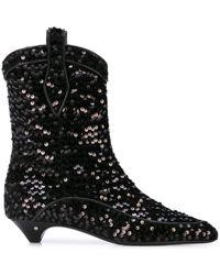Laurence Dacade Vanessa Sequin Boots - Black