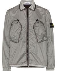 Stone Island Zip-front Shell Jacket - Gray