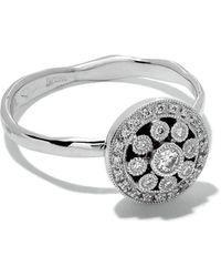 Wouters & Hendrix - 18kt White Gold Diamond Rosetta Ring - Lyst