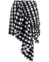 Marques'Almeida ドレープ スカート - ブラック