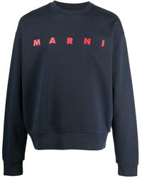 Marni ロゴ スウェットシャツ - ブルー