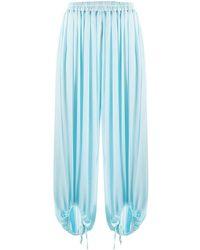 Styland Pleated Harem Pants - Blue