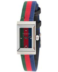Gucci Аналоговые Часы С Полосатым Браслетом - Красный