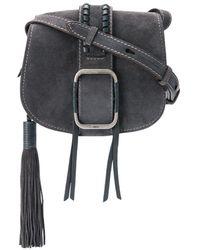 Ba&sh Teddy Buckled Crossbody Bag - Grey