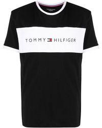 Tommy Hilfiger T-Shirt mit Kontrasteinsatz - Schwarz