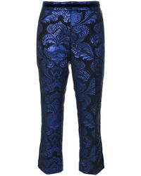 Christian Pellizzari - Jacquard Cropped Trousers - Lyst