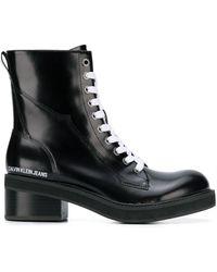 Calvin Klein ブロックヒール ブーツ - ブラック