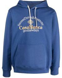 CASABLANCA Худи С Вышитым Логотипом - Синий