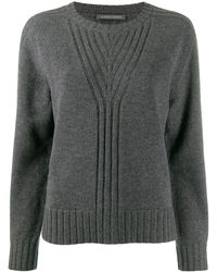 Alberta Ferretti リブディテール セーター - グレー