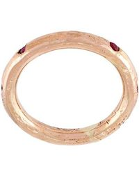 Alice Waese Carved Abstract RIng - Metallic UghTith
