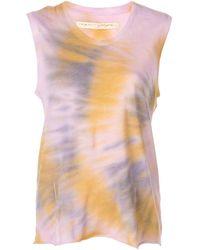 Raquel Allegra Tie-dye Muscle Tank Top - Purple