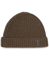 Burberry - Rib Knit Cashmere Beanie - Lyst