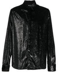 Just Cavalli - Рубашка С Длинными Рукавами И Эффектом Металлик - Lyst