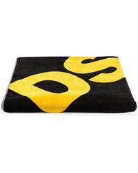 DSquared² Toalla con logo - Negro