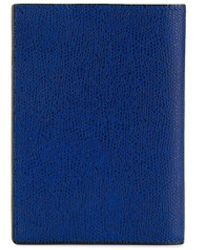 Valextra Grained Texture Wallet - Blue