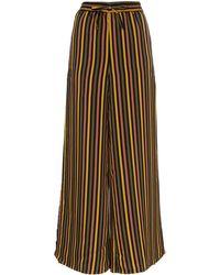 Onia Chloe Striped Wide Leg Pants - Black