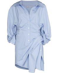 Alexander Wang Платье-рубашка Athena Асимметричного Кроя - Синий