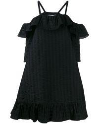 Henrik Vibskov Floss ラッフル ドレス - ブラック